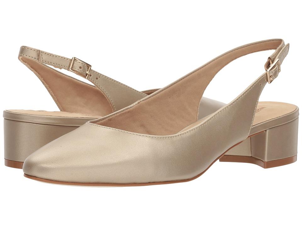 Vintage Style Wedding Shoes, Boots, Flats, Heels Walking Cradles - Hazel New Gold Soft Metallic Leather Womens  Shoes $110.00 AT vintagedancer.com