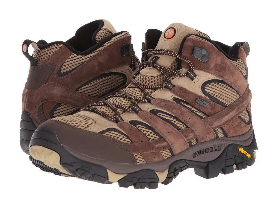 Merrell - Moab 2 Mid Waterproof (Bracken) Mens Shoes