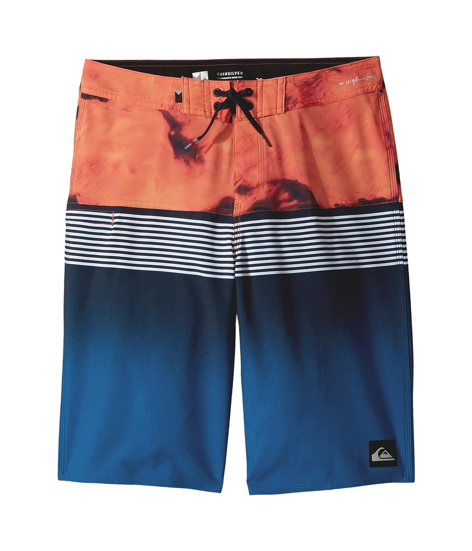 Quiksilver Kids Highline Lava Division Boardshorts (Big Kids) (Navy Blazer) Boy