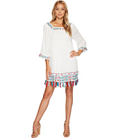 ROMEO & JULIET COUTURE - Embroidered Dress with Fringe On Bottom Hem