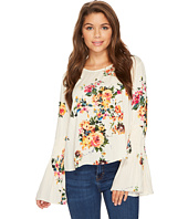 ROMEO & JULIET COUTURE - Floral Bell Sleeve Top