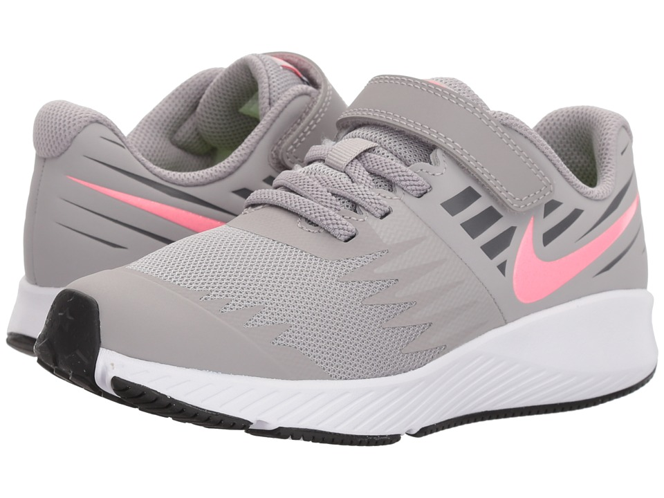 Nike Kids Star Runner (Little Kid) (Atmosphere Grey/Sunset Pulse/White) Girls Shoes