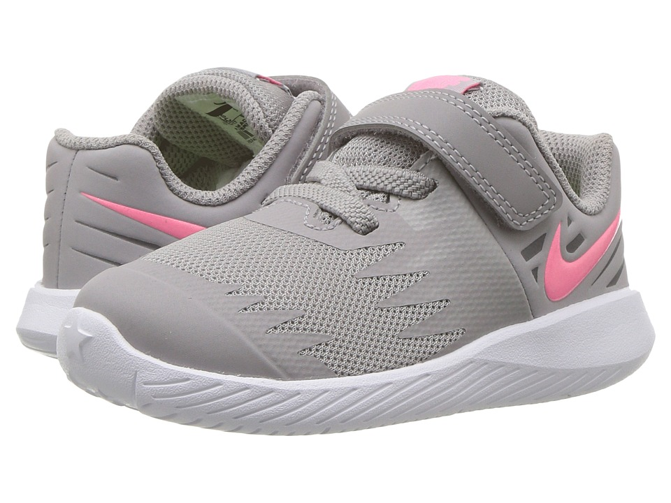 Nike Kids Star Runner TDV (Infant/Toddler) (Atmosphere Grey/Sunset Pulse/White) Girls Shoes