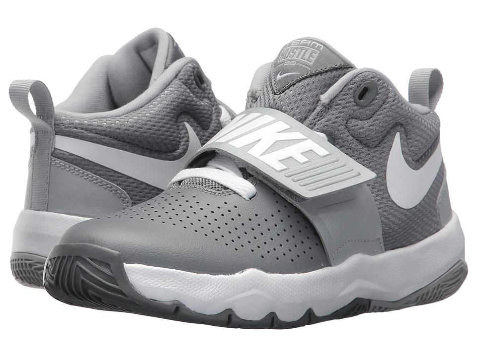 Nike Kids Team Hustle D8 (Little Kid) (Cool Grey/Wolf Grey/White) Boys Shoes