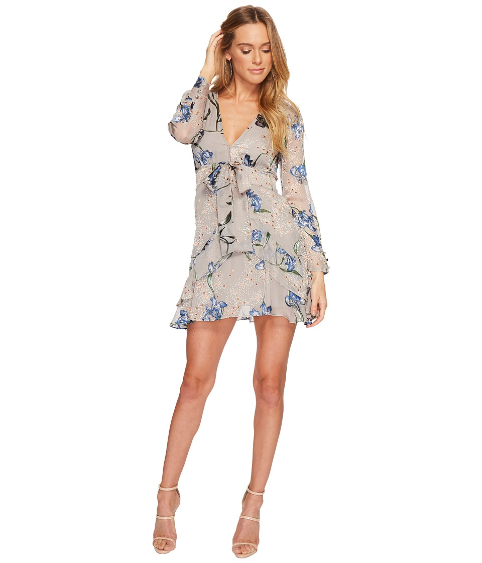 For Love and Lemons Cleo Floral Party Dress (Silver Orchid) Women