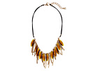 Robert Lee Morris Topaz and Gold Frontal Necklace