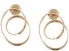 Robert Lee Morris Gold Loop Hoop Earrings