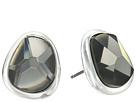Robert Lee Morris Black Diamond and Silver Stud Earrings