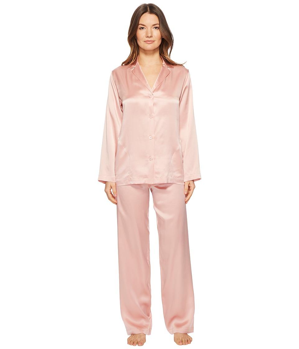 La Perla - Silk Pajama (Pink) Womens Pajama Sets