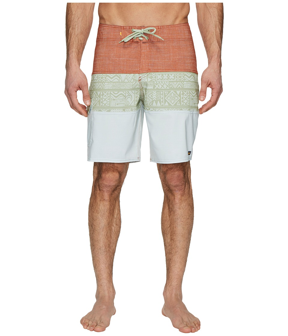 Quiksilver Waterman Fairway Tri Block Boardshorts (Reseda) Men