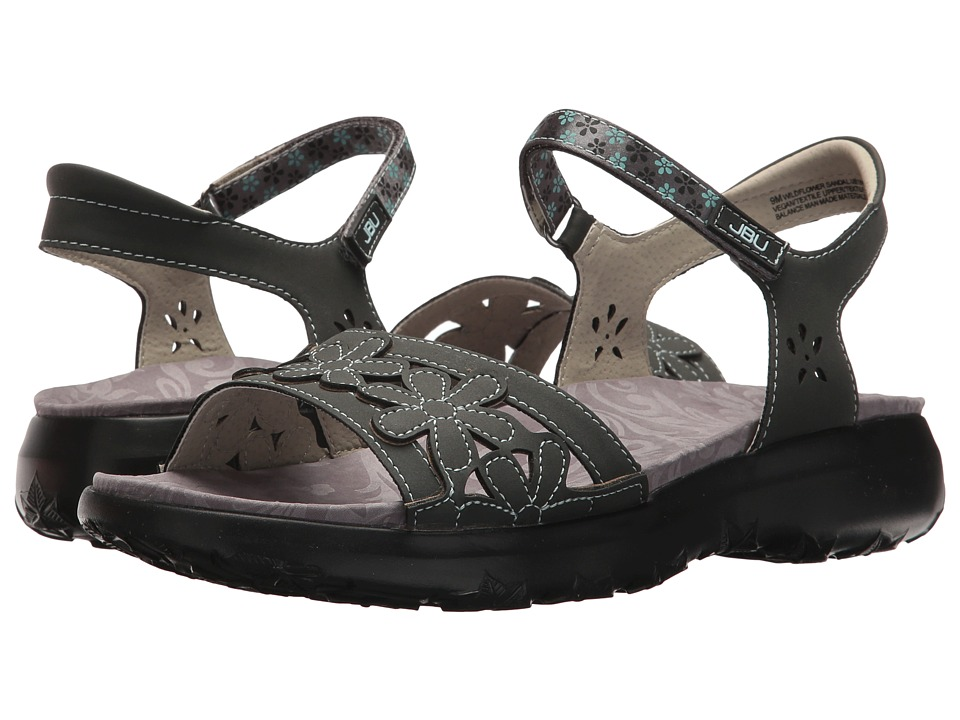 JBU - Wildflower Sandal (Charcoal) Women's Sandals