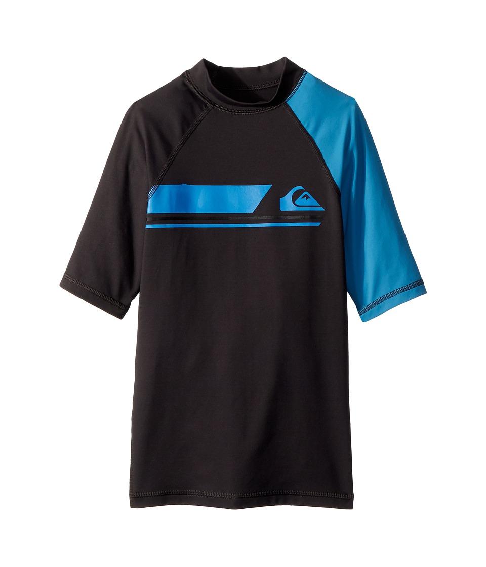Quiksilver Kids - Active Short Sleeve Rashguard (Big Kids) (Tarmac/Cendre Blue) Boys Swimwear