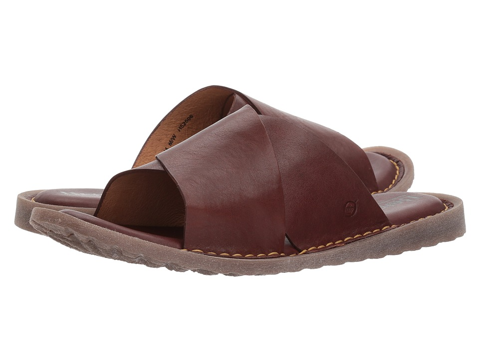 Born - Getaway (Brown Full Grain Leather) Mens Sandals