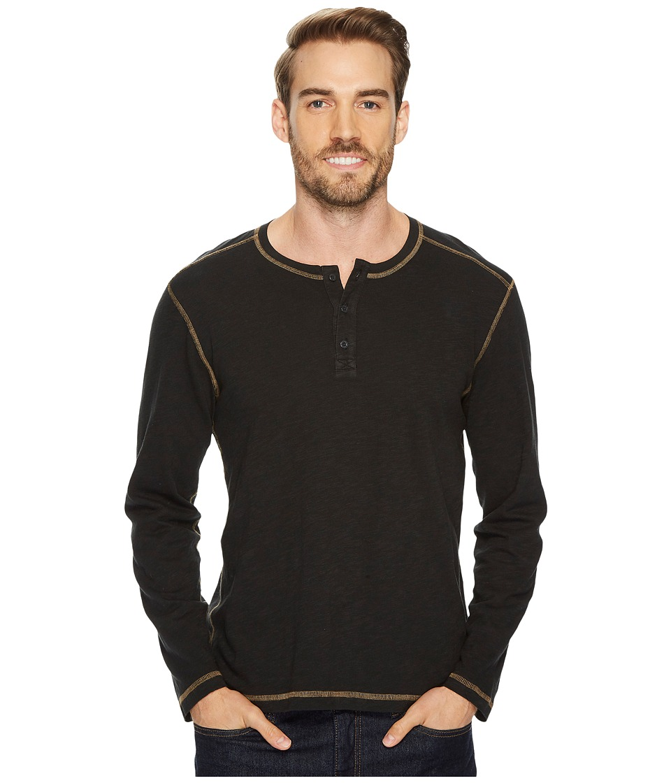 Agave Denim Pintail Long Sleeve Henley Slub Jersey (Stretch Limo) Men