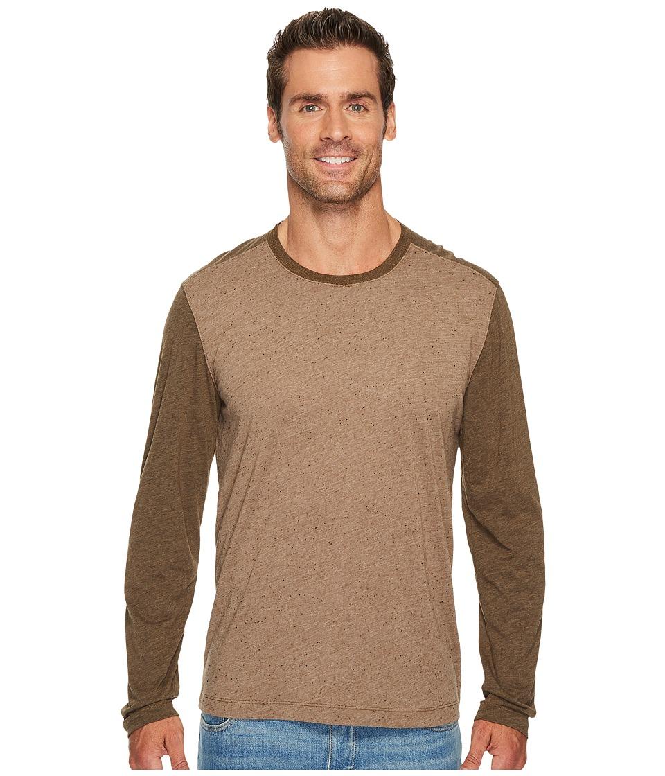 Agave Denim - Shoaling Long Sleeve Color Block Neps T-Shirt