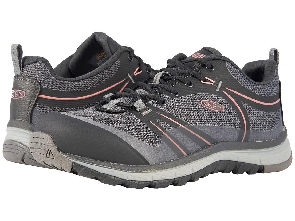 Keen Utility Sedona Low Aluminum Toe (Raven/Rose Dawn) Women's Work Boots