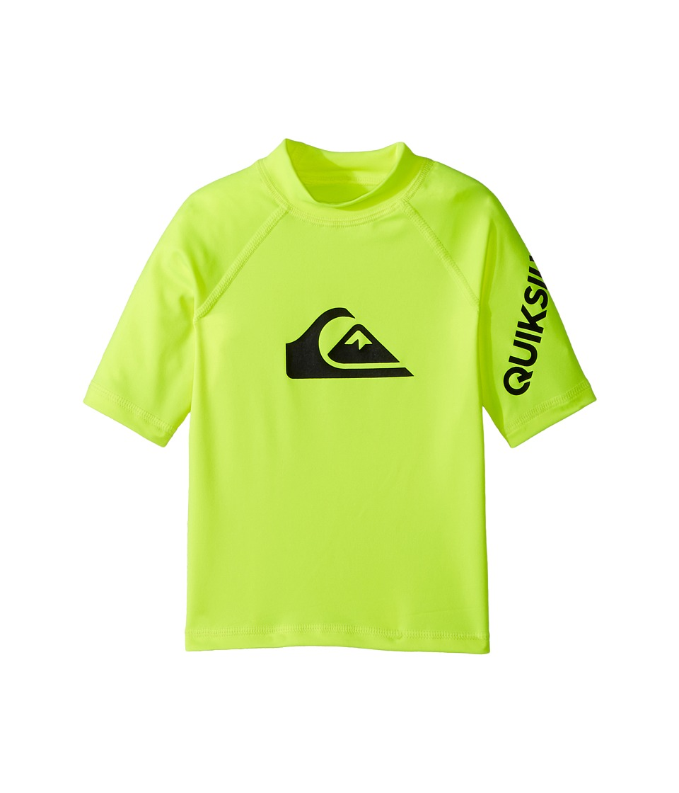 Quiksilver Kids All Time Short Sleeve Rashguard (Toddler/Little Kids) (Safety Yellow) Boy