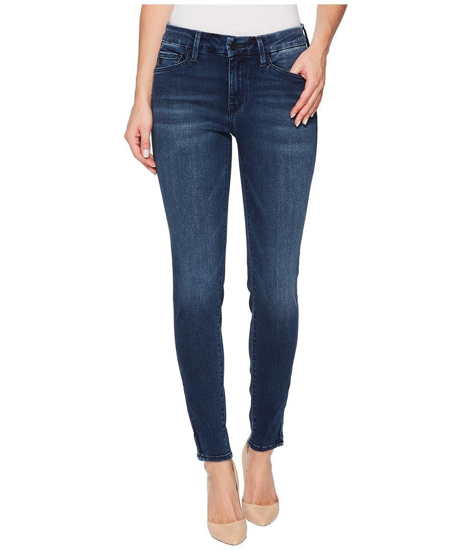 Mavi Jeans Adriana Mid-Rise Super Skinny Ankle in Zip Indigo Move (Zip Indigo Move) Women