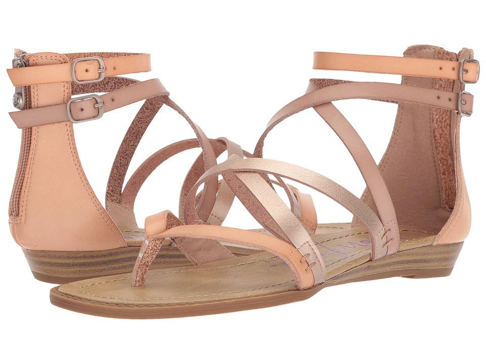 Blowfish - Bungalow (Blonde/Pearl Rose Gold/Blush Dyecut PU) Womens Sandals