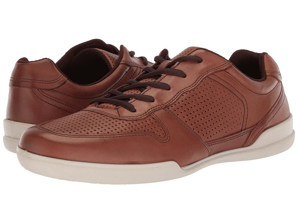 ECCO Enrico Perf Sneaker (Mahogany) Men