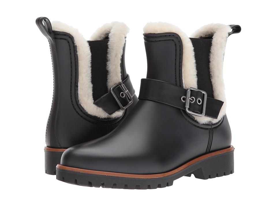 Bernardo Zain Rain (Black/Natural Shearling) Women's Shoes