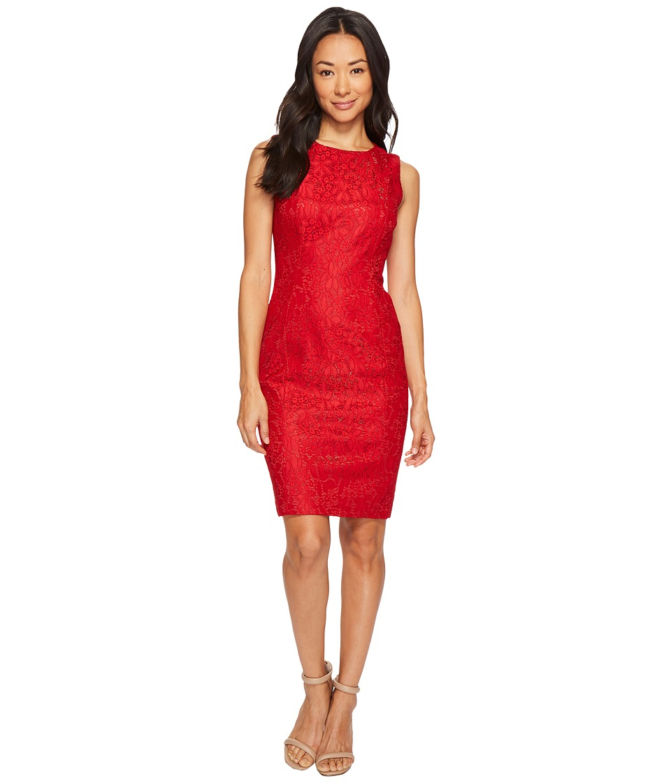 Tahari by ASL Petite - Petite Bonded Lace Sheath Dress