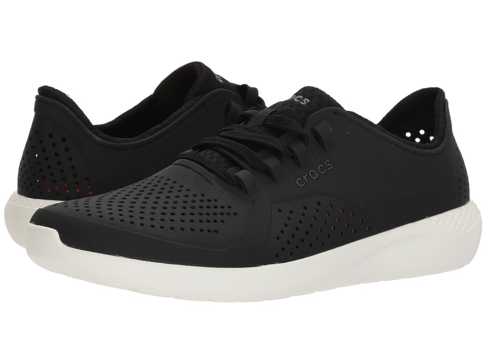 Crocs - LiteRide Pacer (Black/White) Mens  Shoes