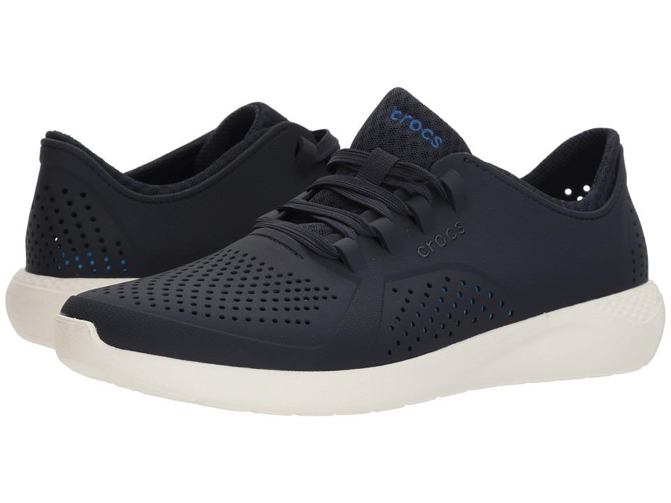 Crocs LiteRide Pacer (Navy/White) Men's  Shoes
