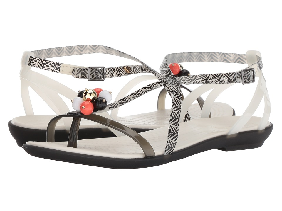 Crocs - Drew x Crocs Isabella Graphic Sandal (Black/White) Womens  Shoes