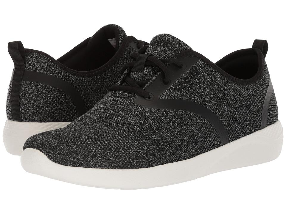 Crocs LiteRide Lace (Black/White) Women's Shoes