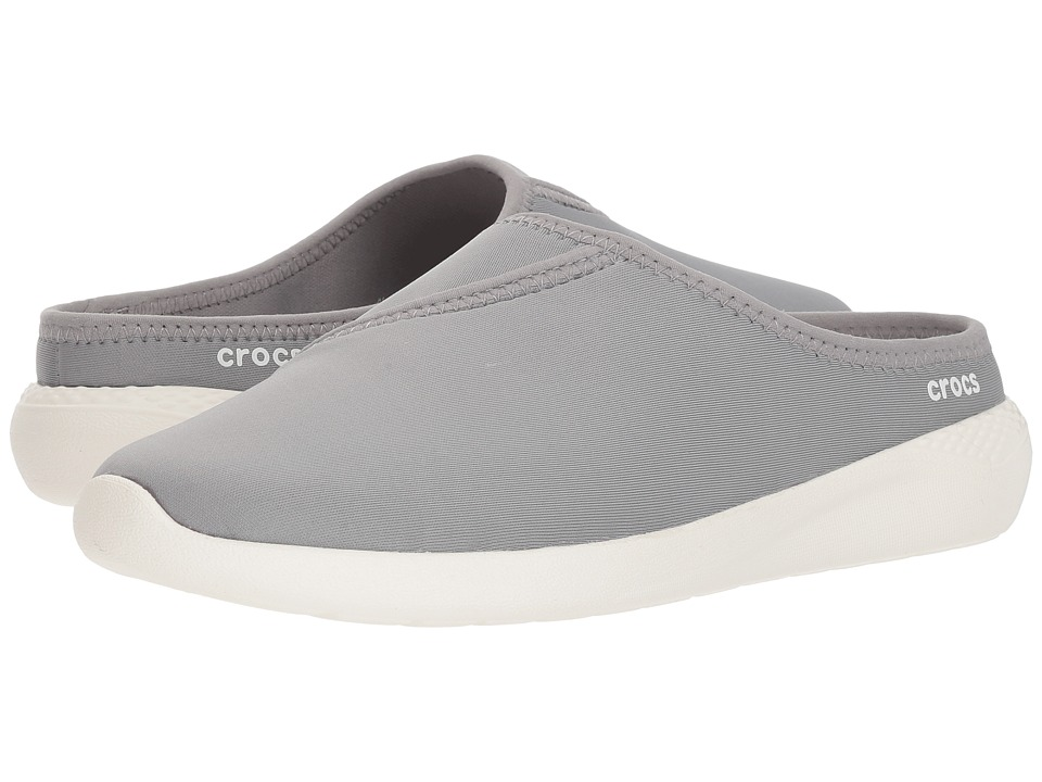Crocs - LiteRide Mule (Light Grey/White) Womens  Shoes