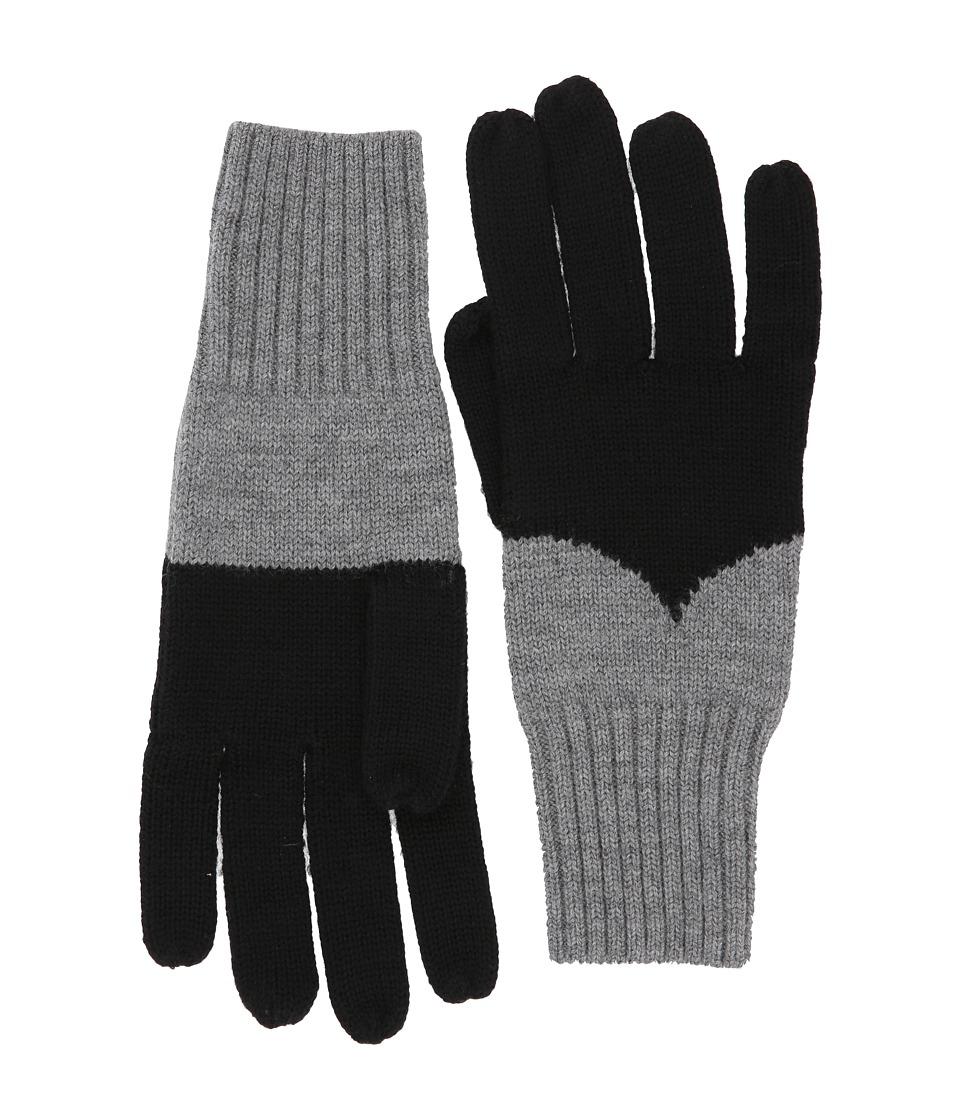 Hunter Original Moustache Gloves (Black/Grey) Extreme Cold Weather Gloves