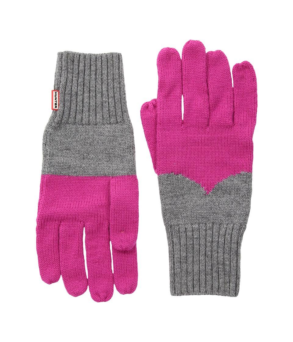 Hunter Original Moustache Gloves (Bright Pink/Grey) Extreme Cold Weather Gloves