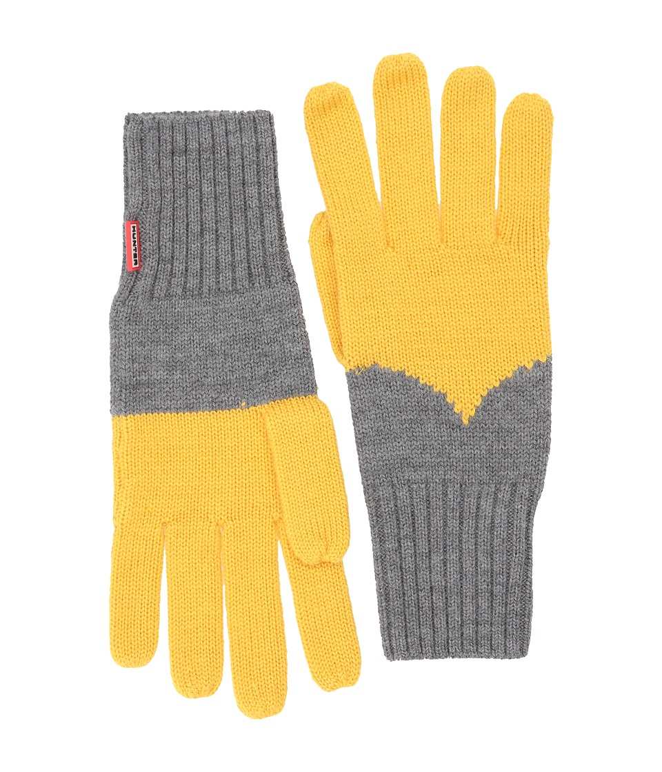 Hunter Original Moustache Gloves (Yellow/Grey) Extreme Cold Weather Gloves