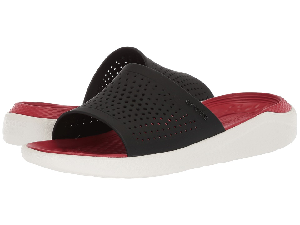 Crocs - LiteRide Slide (Black/White) Shoes