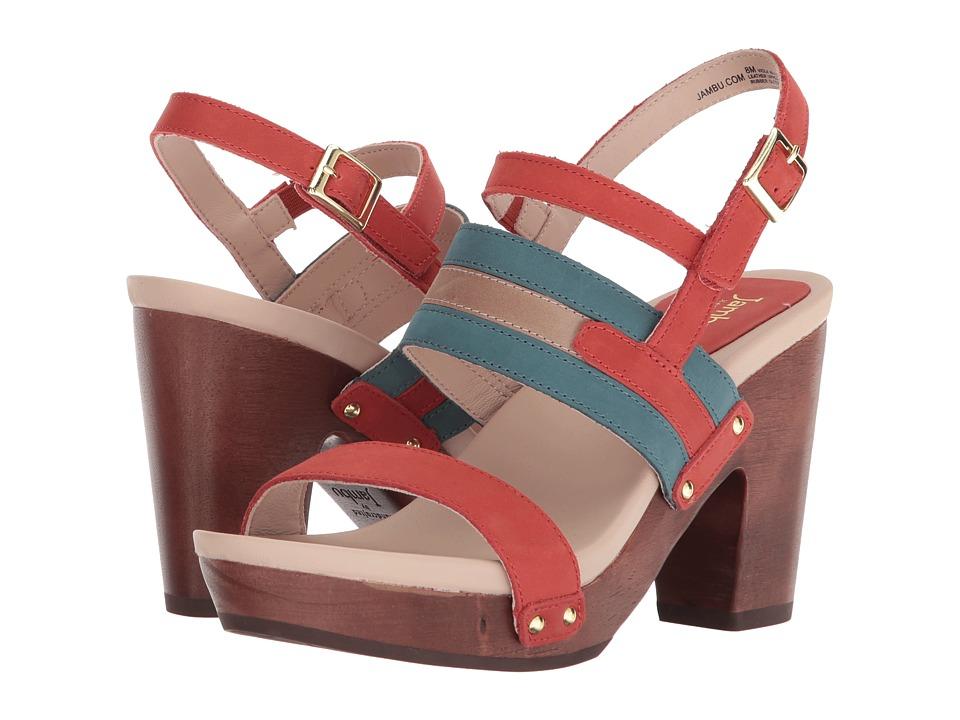 Jambu - Viola (Coral/Teal) Womens Shoes