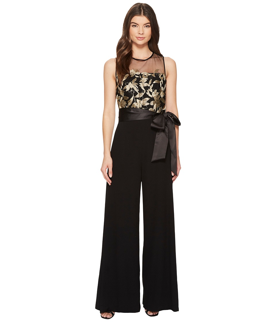 Tahari by ASL - Embroidered Mesh Jumpsuit