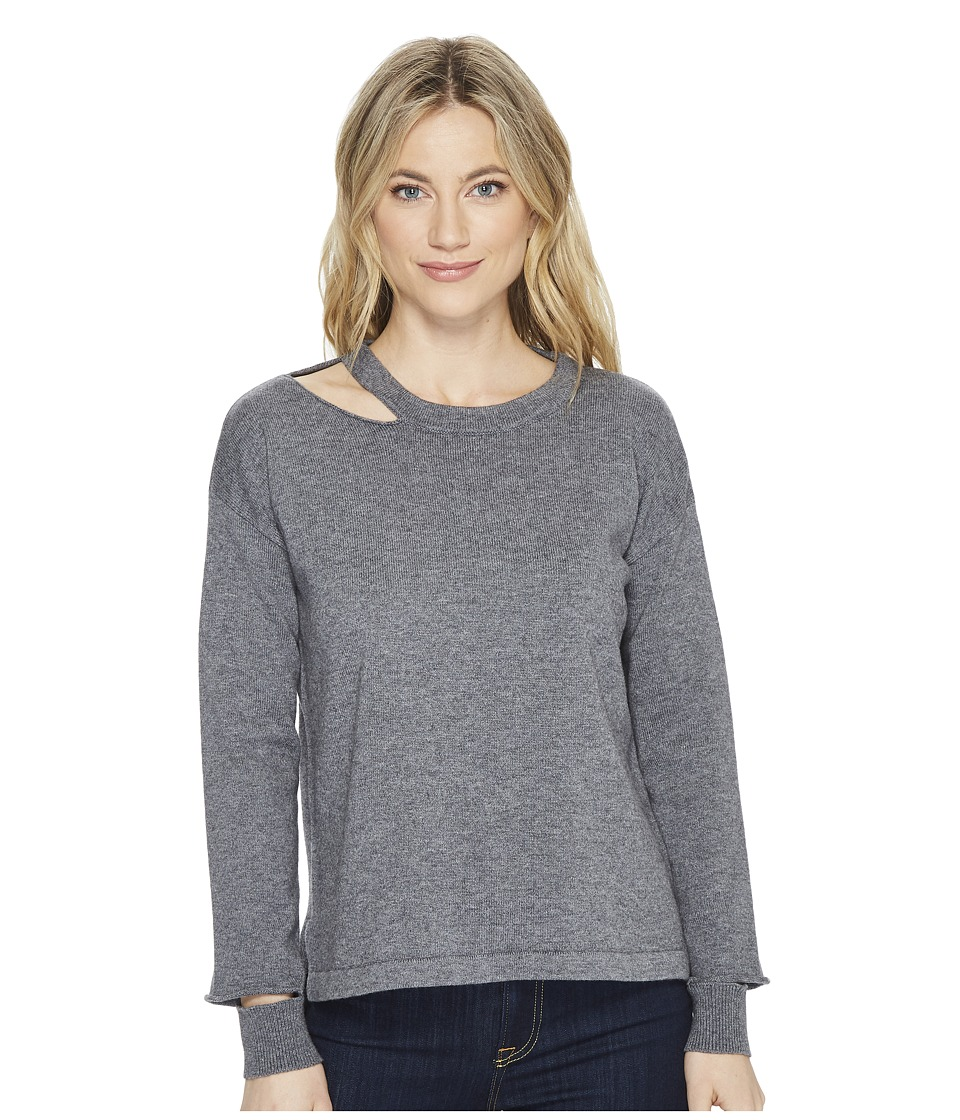 LnA Perry Cut Out Sweater (Lead) Women's Sweater
