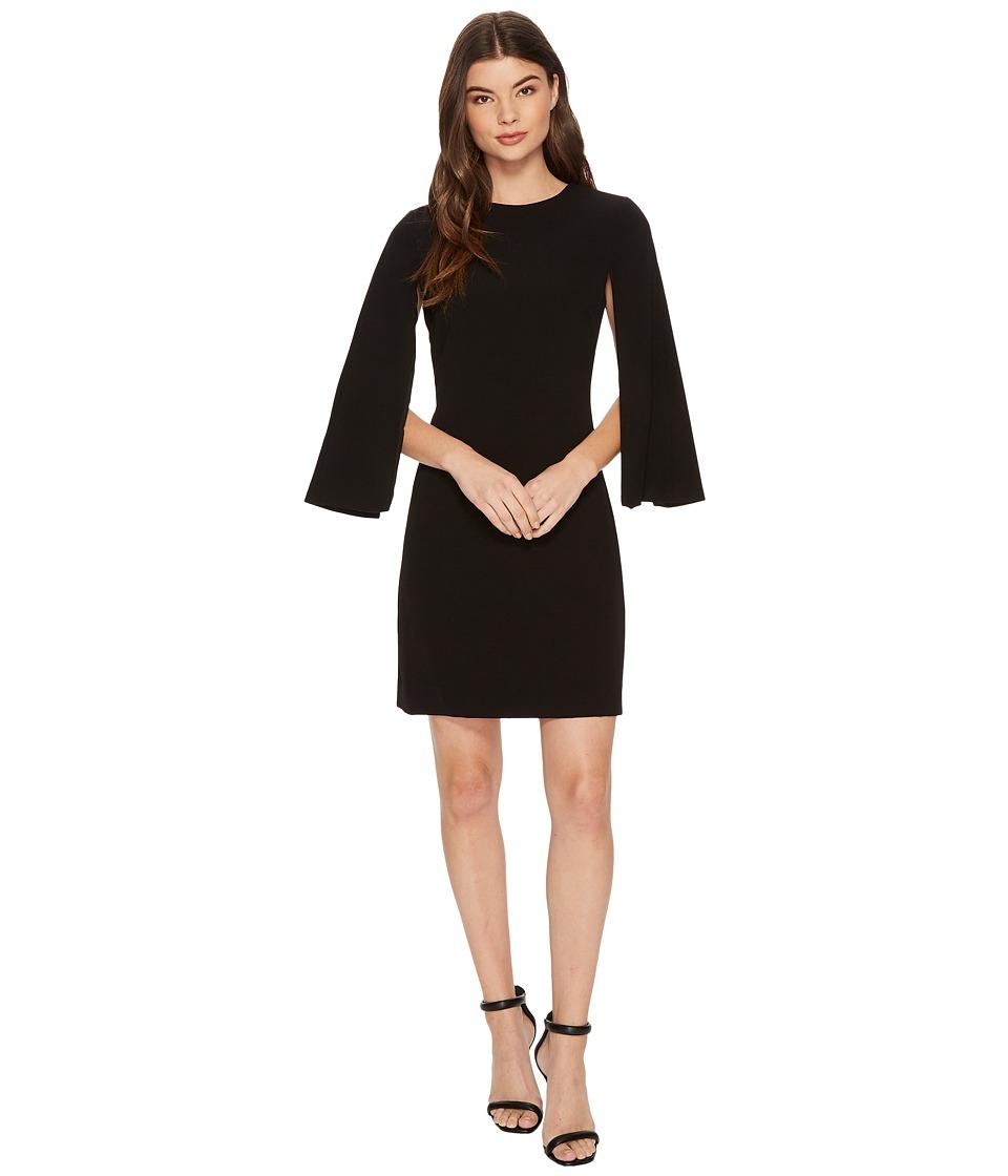 Tahari by ASL Cape Sleeve Shift Dress (Black) Women