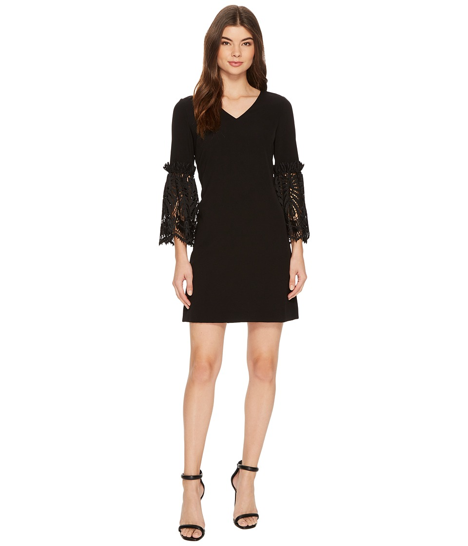 Tahari by ASL - Lace Bell Sleeve Shift (Black) Womens Dress
