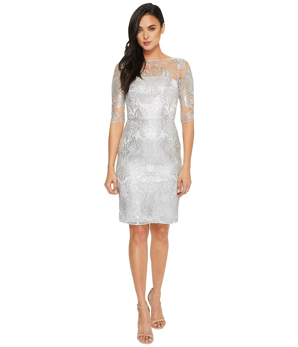 Tahari by ASL - Sequin Embroidery Sheath