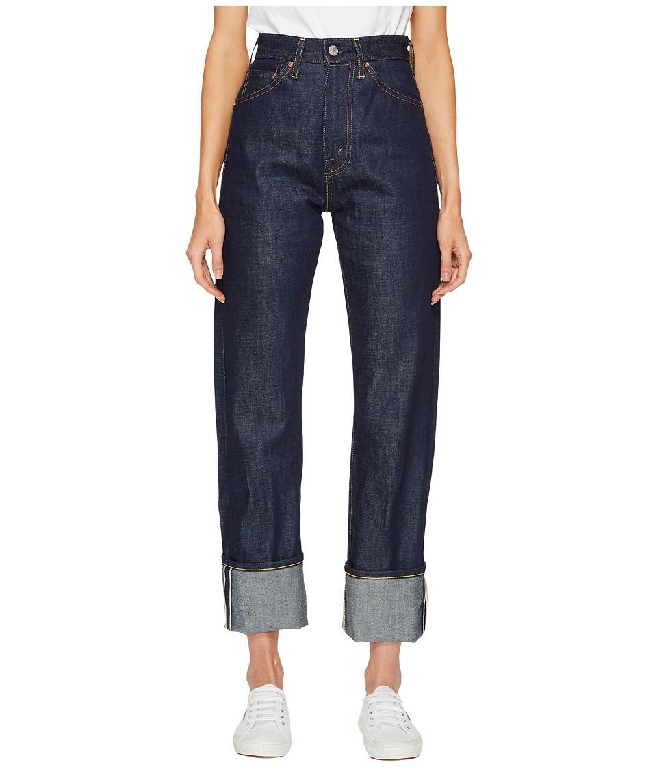 1950s Pants & Jeans- High Waist, Wide Leg, Capri, Pedal Pushers Levisr Premium Vintage Clothing 1950s 701 Jeans Rigid Selvedge Jeans $198.00 AT vintagedancer.com