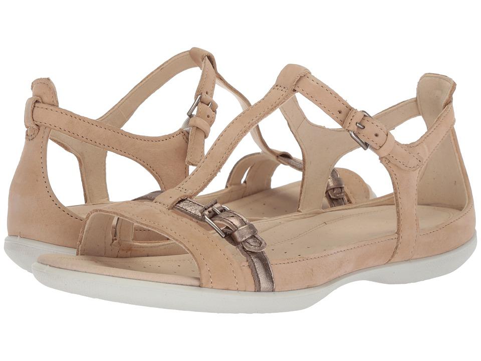 ECCO Flash Buckle Sandal (Powder/Warm Grey) Sandals