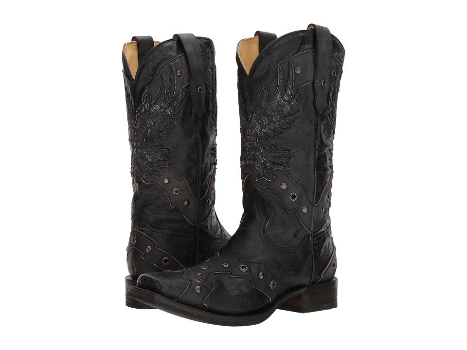 Corral Boots - A3372 (Black/Grey) Cowboy Boots