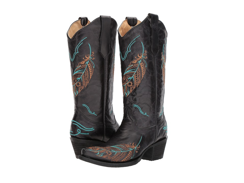 Corral Boots - L5286 (Black) Cowboy Boots