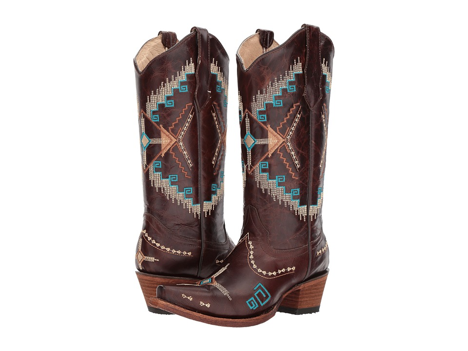 Corral Boots - L5280 (Brown) Cowboy Boots