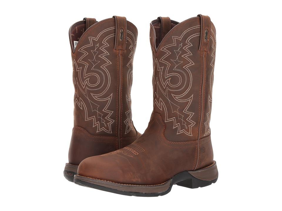 Durango Rebel 12 Western WP Steel Round Toe (Coyote Brown) Cowboy Boots