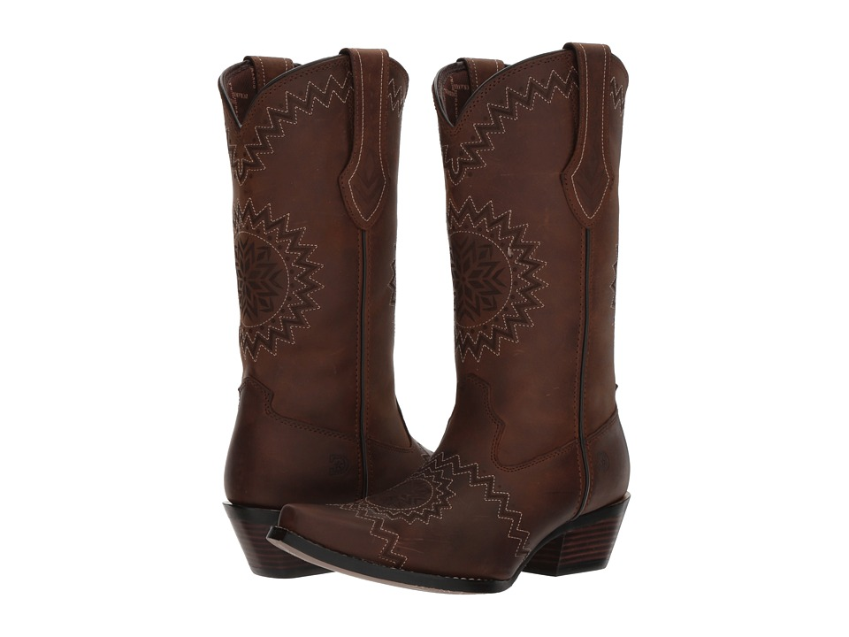 Durango Crush 12 Laser Etch (Dark Chocolate) Cowboy Boots