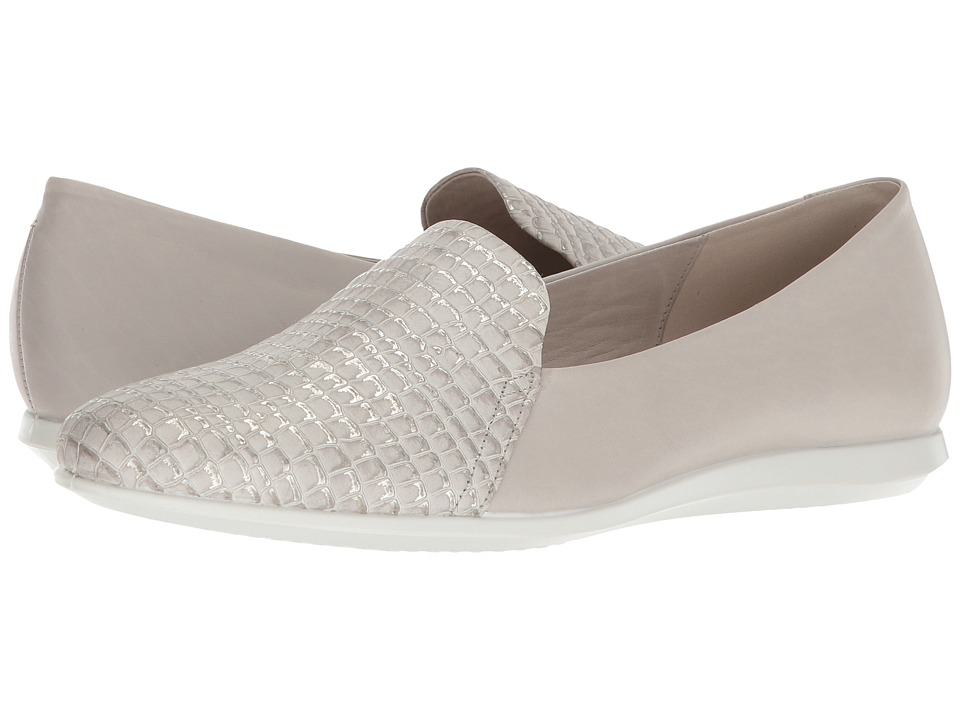 ECCO Touch Ballerina 2.0 Scale (Moon Rock/Gravel Cow Leather) Slip-On Shoes