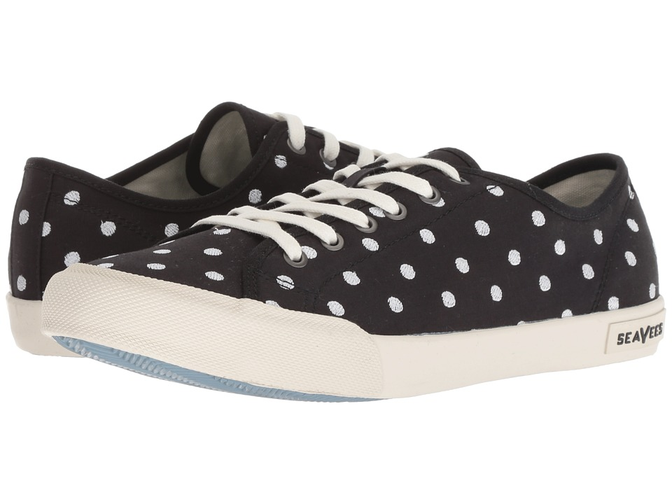 SeaVees Monterey Embroidery (Black Dot) Women's Shoes